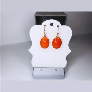 ♡ 2 for 20$ ♡ Burnt Orange Oval Pendant Earrings